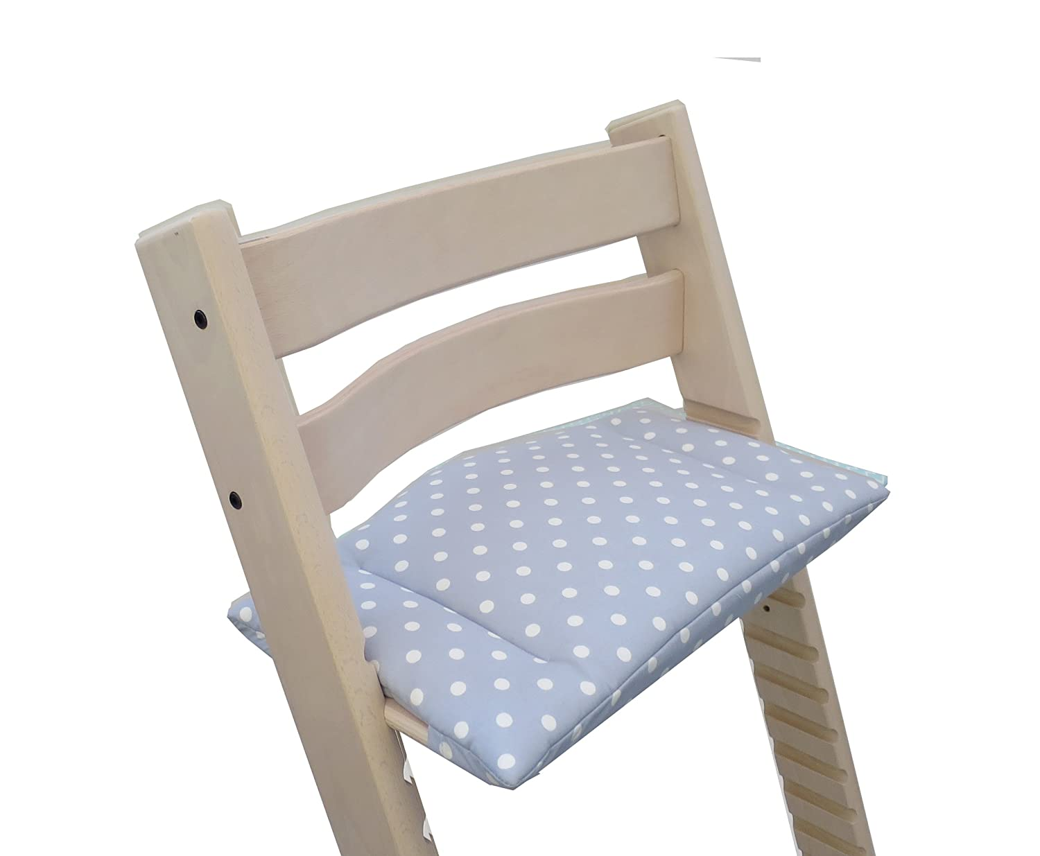 Blausberg Baby Cushion Set Junior for Tripp Trapp High Chair of Stokke Anthracite Dots