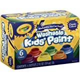 Crayola Kids' Paint Washable, Assorted Colors 6 Bottle, 2 Fl. Oz. Each ( Case of 6 )