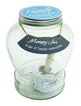 Review Top Shelf Family Memory Jar ; Unique and Thoughtful Gift Ideas for Mom and Dad ; Memorable Keepsakes ; Kit Comes with 180 Tickets and Decorative Lid