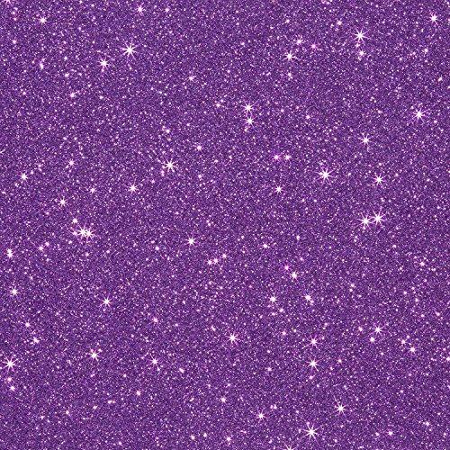 1 Sheet of 12 x 20 Glitter Iron On Heat Transfer Vinyl (Lavender)