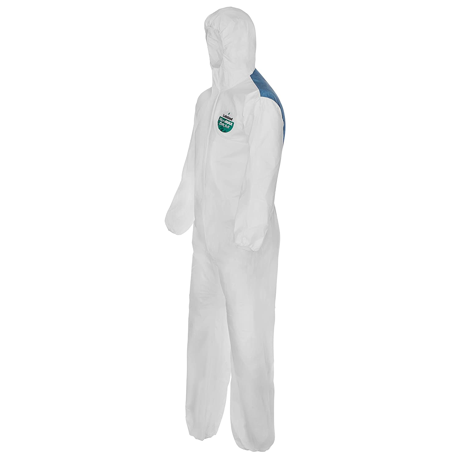 Lakeland MicroMax NS COL428-2X Cool Suit Microporous Disposable Coverall with Hood White Elastic Cuff 2X-Large Case of 25