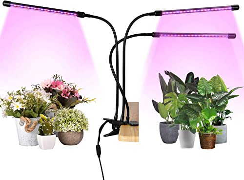 LED Grow Lights for Indoor Plants Full Spectrum Plant Light Grow Lamp for Seedings Succulents, 3 9 12H Timer, 4 Head Grow Light 360 Adjustable Gooseneck, 3 Switch Modes, 9 Dimmable Brightness