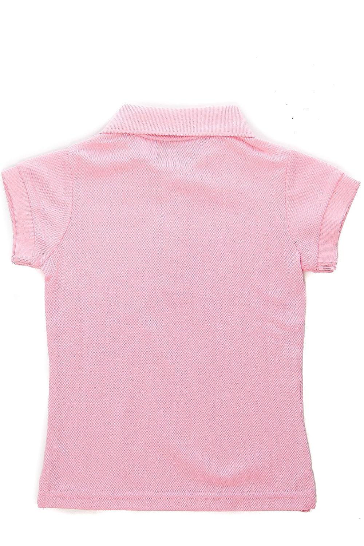 Girls Kids Cute Button Up Johnny Soft Pique Polo Shirt Top GUT-302 4, Rose