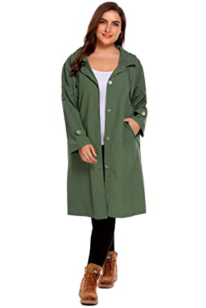 0fb7f24c431 Image Unavailable. Image not available for. Color  IN VOLAND Women s Plus  Size Raincoat Packable Hiking ...