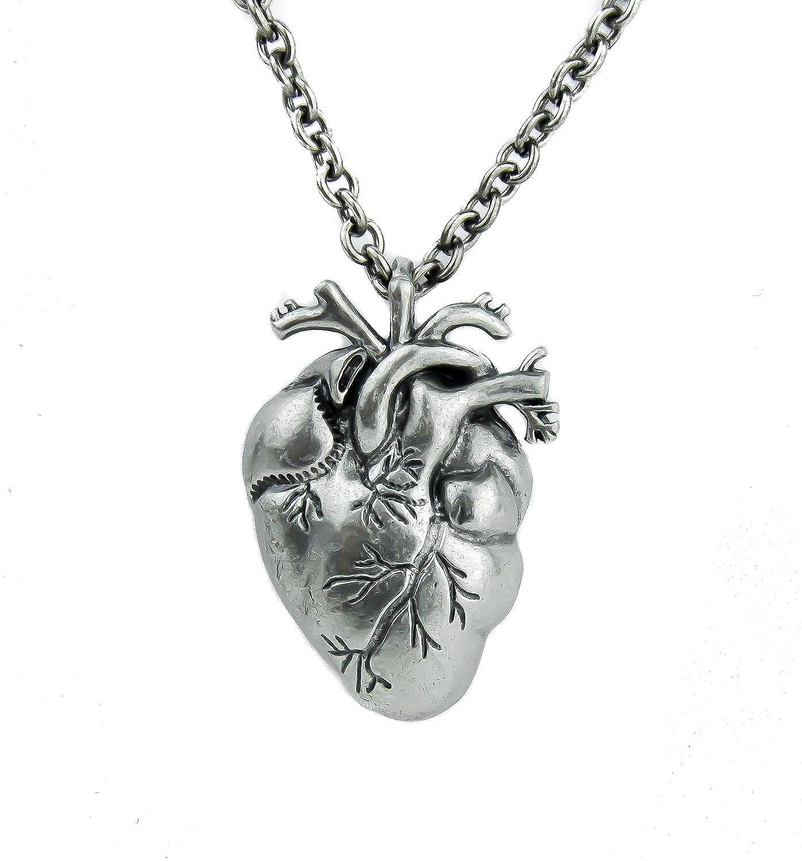 Amazon.com: Anatomical Heart Pendant Realistic Oddities Pendant ...