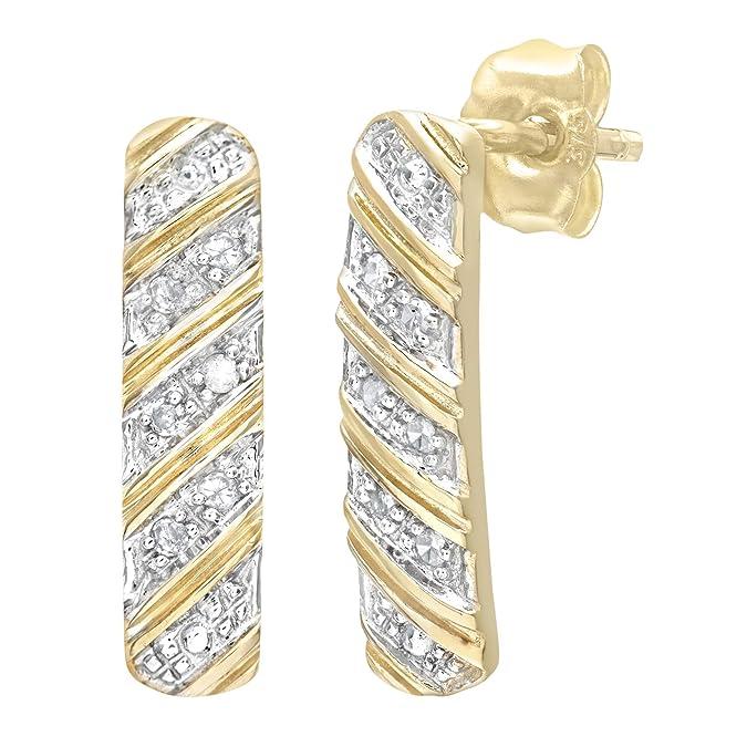 Naava 9ct Women's 5pt Diamond Earrings