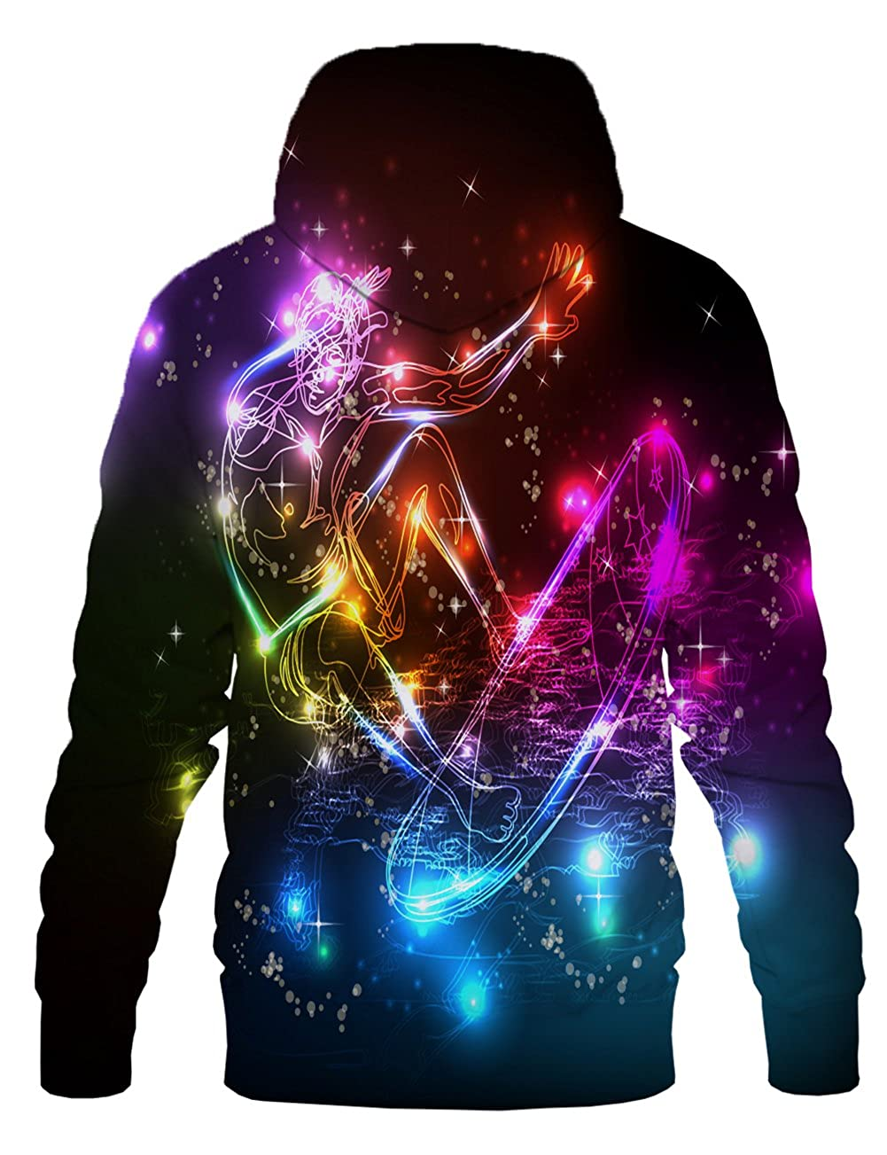 Yasswete Unisex 3D Fashion Digital Print Pullover Hooded Sweatshirts with Pockets