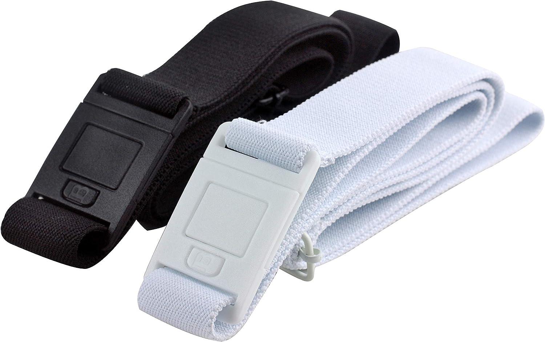 0-14 Beltaway SQUARE BUCKLE- Beltaways Flat Buckle Stretch No Show Belt /… , Black//White One Size