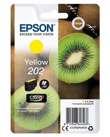 Epson 202 4.1ml 300páginas Amarillo cartucho de tinta - Cartucho ...