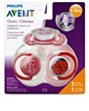 Philips Avent SCF134/30 3 Piece Classic Value Pack, Pink, 6-18 Months