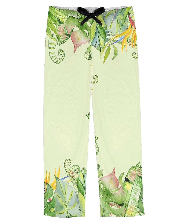 RNK Shops Tropical Leaves Border Mens Pajama Pants Personalized
