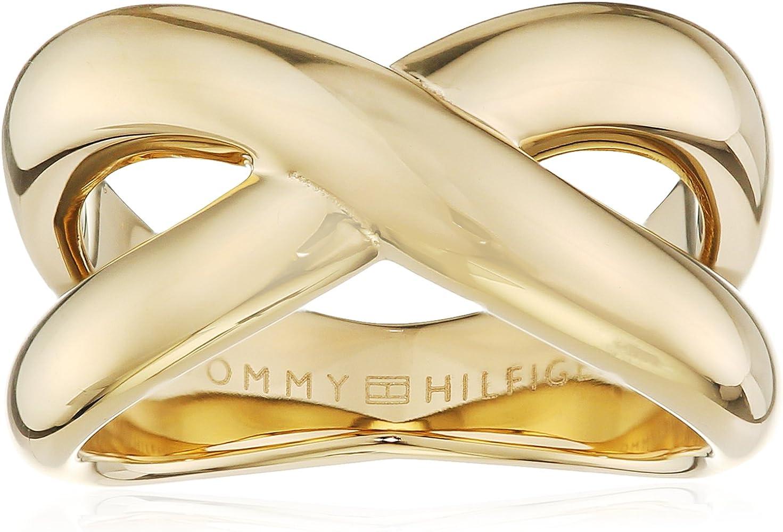 Tommy Hilfiger Jewelry – Anillo de Mujer Classic Signature Acero Inoxidable, Talla 58 (18,5), 2700964E