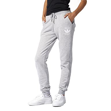 Pantalon adidas - Slim Revers Pantalon Gris Moyen Heather Blanc 40   Amazon.fr  Vêtements et accessoires 1306aa09bc9