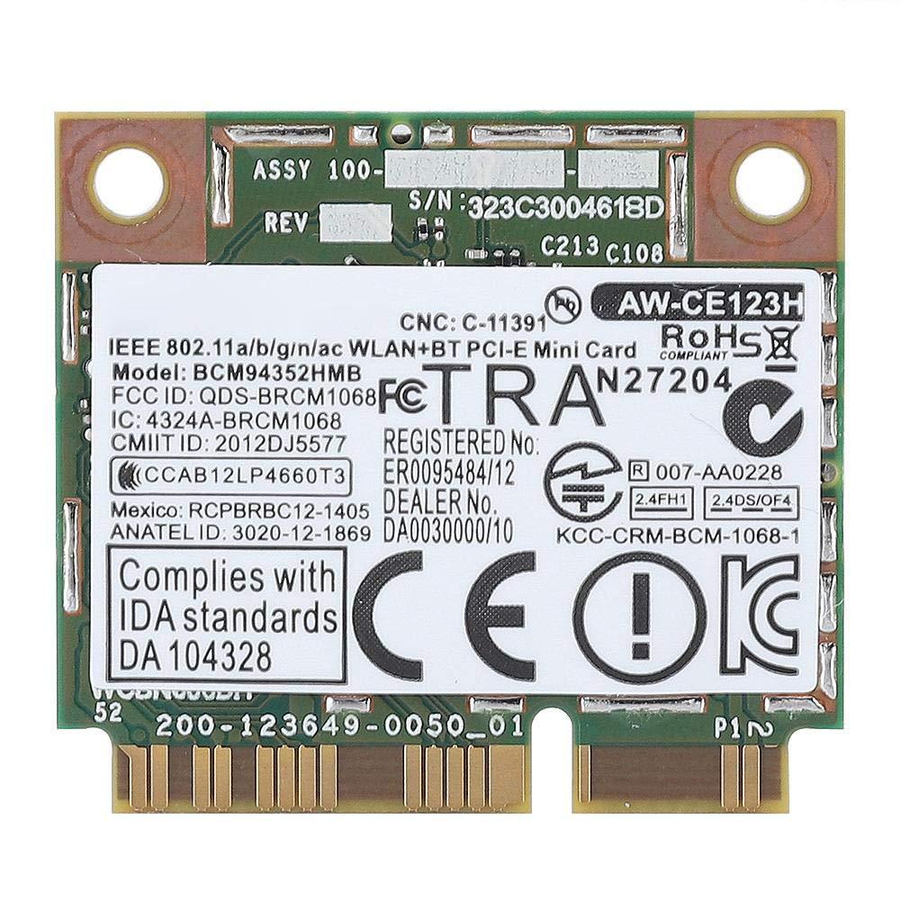 Pokerty Tarjeta PCI-E, 2.4G + 5G Tarjeta inalámbrica Mini ...