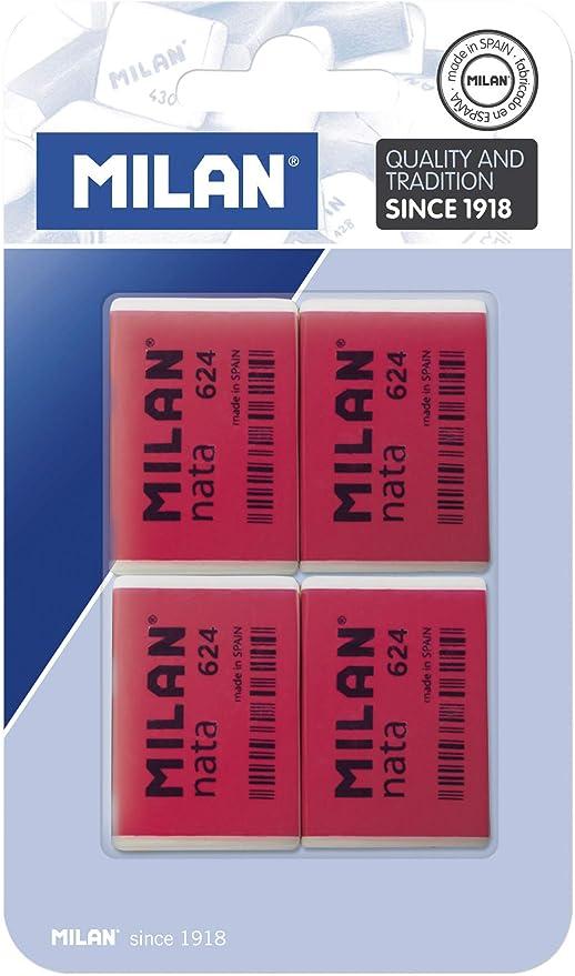 Milan BPM10054 - Pack de 4 gomas de borrar: Amazon.es: Hogar