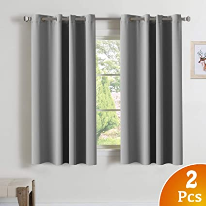 Amazon.com: Blackout Grey Curtains for Bedroom/Living Room Room ...