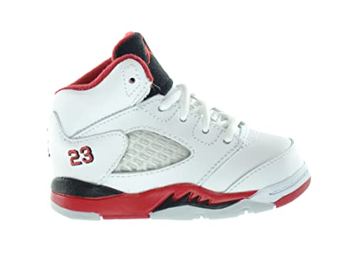 the best attitude be839 8312a Air Jordan 5 Retro (TD) Baby Toddlers Basketball Shoes White ...