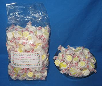 Pina Colada Flavored Taffy Town Salt Water Taffy 2 Pounds