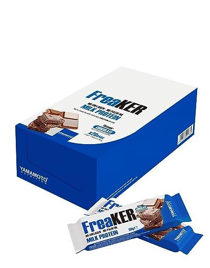 Yamamoto Nutrition FreaKer, Coco con Recubrimiento de Chocolate con Leche - 20 Barras
