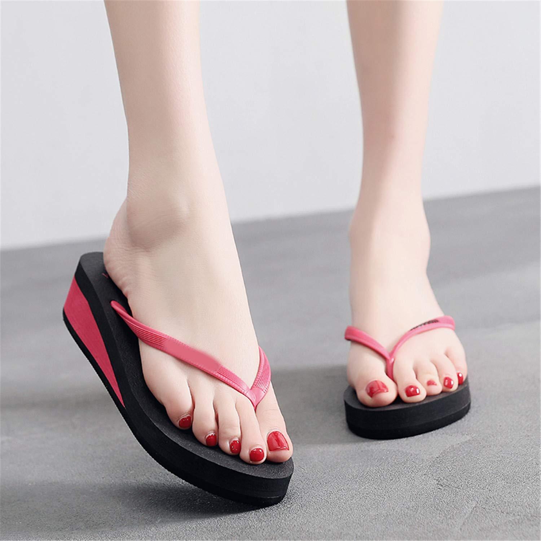 Simplicity Wedge Beach Flip Flops Women Mixed Colors Waterproof Beach Slippers with Platform Slides Shoes