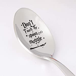 Friend Spoon Gift - Dont Touch My Spoon Muggle Gift for Men Women   Food Lover Gift   Birthday Gift for Friends BFF   Wedding Gift   Sibling Gift - 7 Inch Stainless Steel