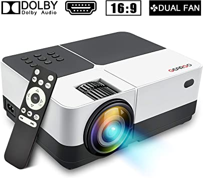 GEARGO Mini proyector, 2800 Lúmenes Full HD 1080P Proyector ...