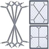 Siaomo Bed Sheet Holder Straps - Adjustable Sheet Clips Straps Bedsheet Keepers Fasteners Elastic Suspenders Gripper for Matt