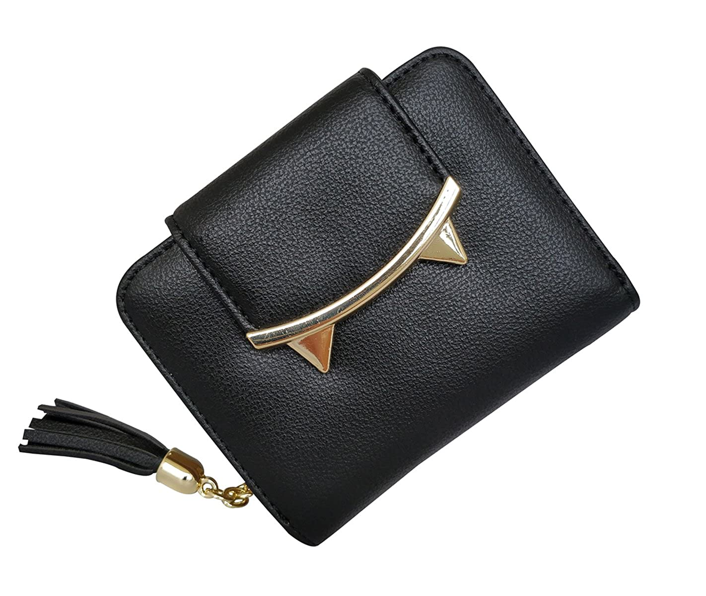 f4da82707 Amazon.com: HeySun Adorable Cat Ears Coin Purse for Ladies Small Wallet  Money Clip Designer Card Case (Black): Shoes