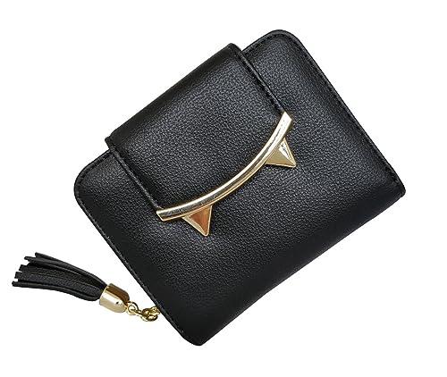 3c7030c77d6e HeySun Women's Adorable Small Wallet Cat Ears Coin Purse Money Clip  Designer Card Case