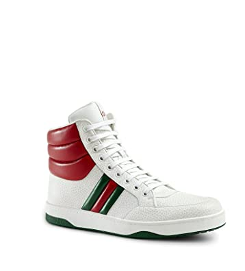 c775d90785f Amazon.com  Gucci Men s Contrast Padded Textured Leather High Top ...