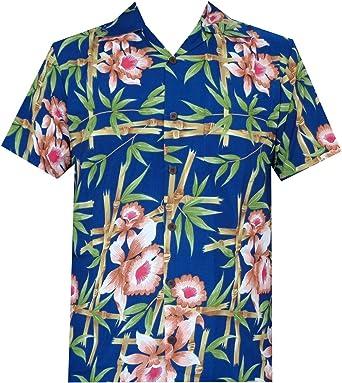 ALVISH - Camisas hawaianas de flamenco rosa para hombre, para playa, fiesta, casual, acampada, manga corta, crucero - Azul - 3X-Large: Amazon.es: Ropa y accesorios