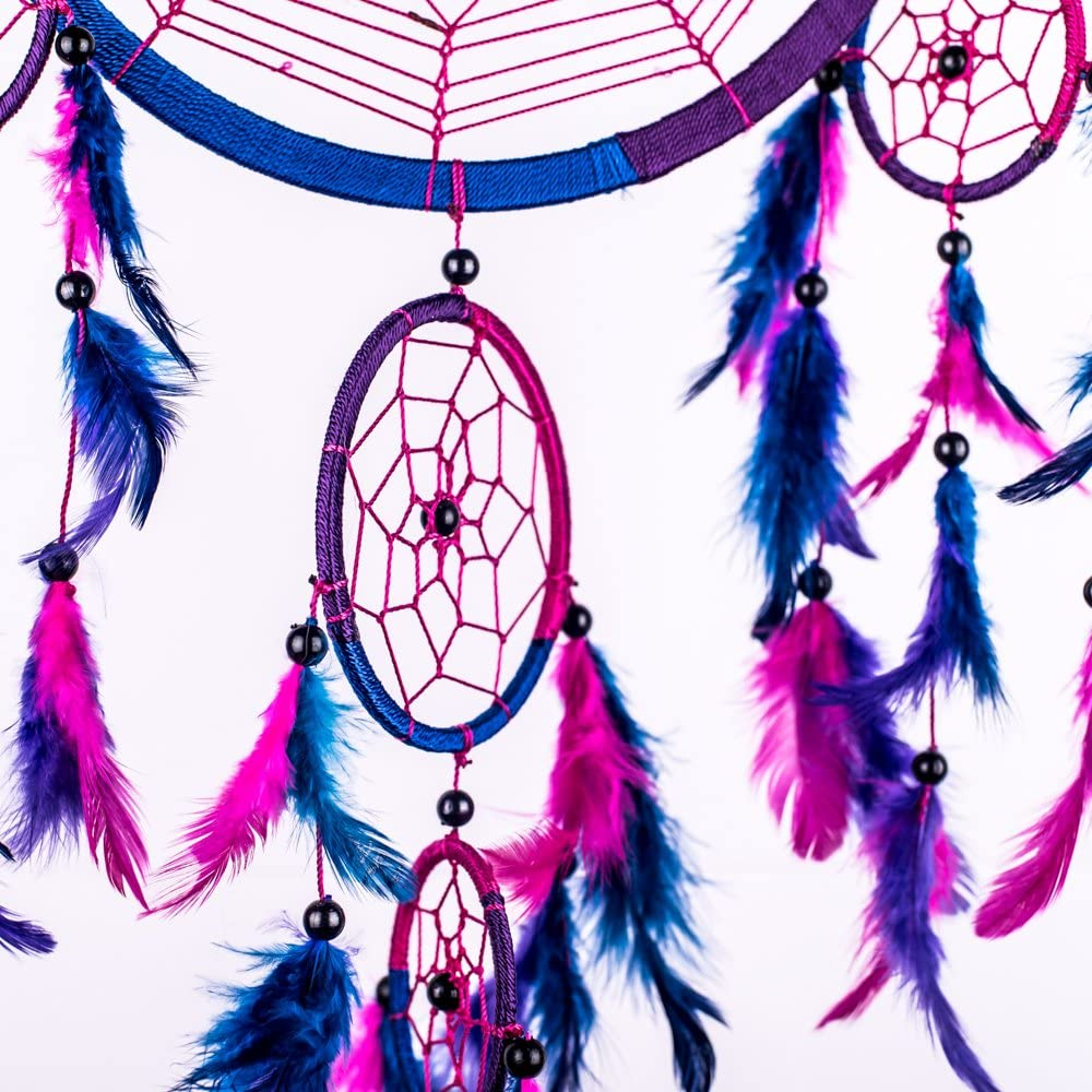 Wolfleague Capteur De R/êVes Attrape R/êVes Dream Catcher /À La Main Traditionnel pour D/éCoration Chambre Fille Voiture Attrape R/êVes Bebe Deco Fille
