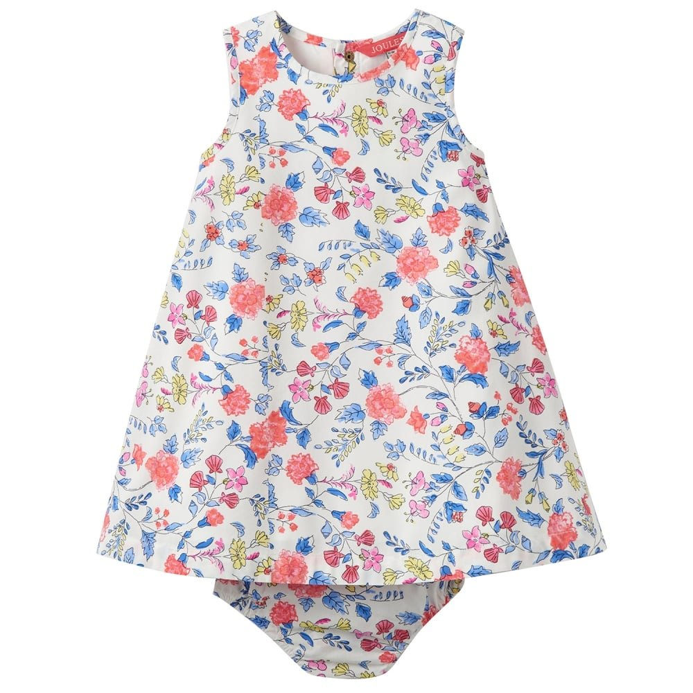 46148f5071 Joules Baby Woven Dress and Knicker Set - Beach Ditsy: Amazon.co.uk:  Clothing