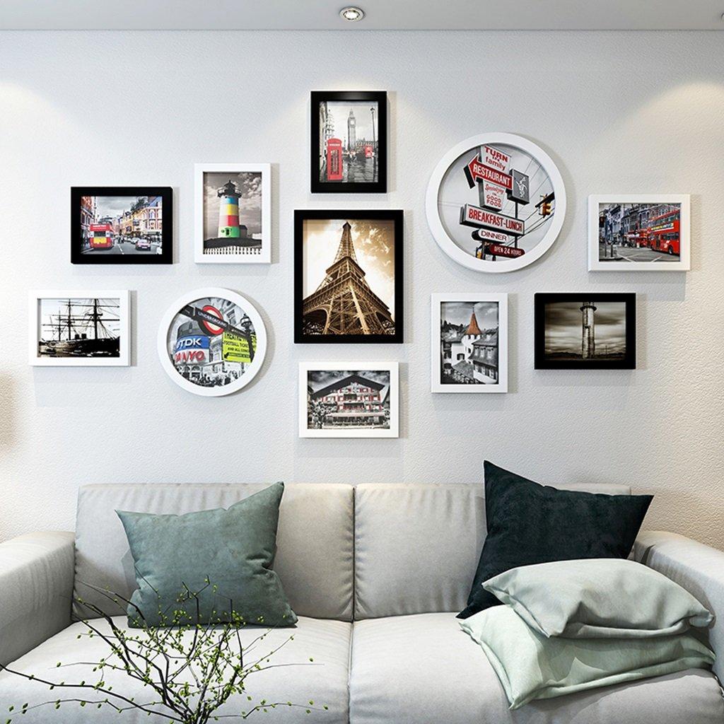 AJZXHE Dekoration-Fotowandwohnzimmer-Schlafzimmerfotowand der europ/äischen unbedeutenden Fotowandkombination kreative Farbe : #1 Foto Wanddekoration