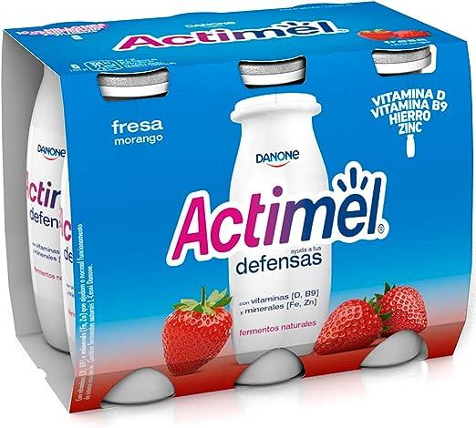 Actimel Danone Fresa, 6 x 100g