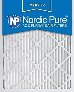 Nordic Pure 16x20x1 MERV 12 Pleated AC Furnace Air Filters, 16x20x1M12-6, 6 (Renewed)