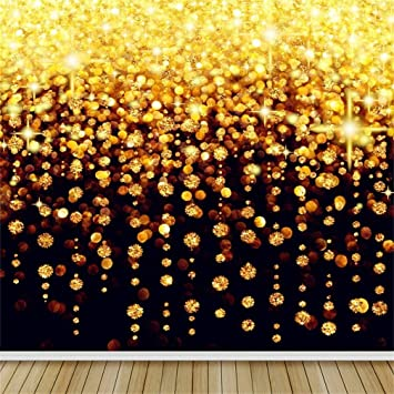 Gold 10x12 FT Photography Backdrop Ombre Flower Pattern Golden Queen Inspired Prints Hippie Design Background for Kid Baby Boy Girl Artistic Portrait Photo Shoot Studio Props Video Drape Vinyl