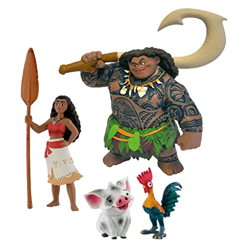 Bullyland - B13181 - Coffret de 4 Figurines - Vaiana Disney