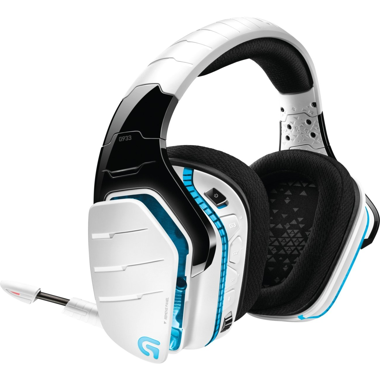 로지텍 G933 무선 헤드폰, 아르테미스 스펙트럼 Logitech G933 Artemis Spectrum, Wireless RGB 71 Dolby and DTS Headphone Surround Sound Gaming Headset, White