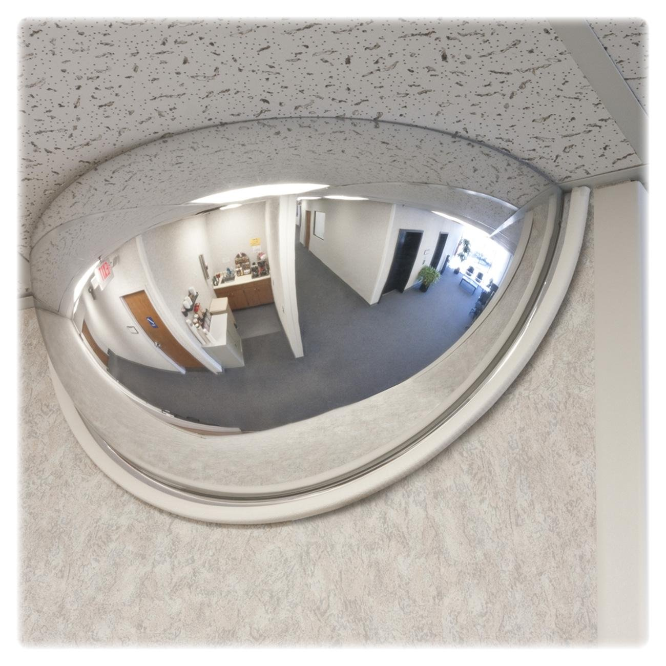 See All Half Dome Convex Security Mirror 26 Inch Dia Industrial