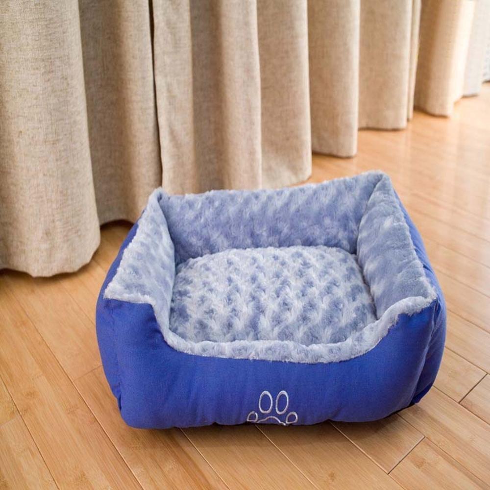 50x40+15 Dixinla Pet Bed Pet Pet Nest bluee Pet Mat bluee