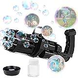 Gatling Bubble Machine Bubbles for Kids - 2021 Cool Electric Bubble Gun & Toy Gun, 8 Hole Huge Automatic Bubble Maker Toys Gi