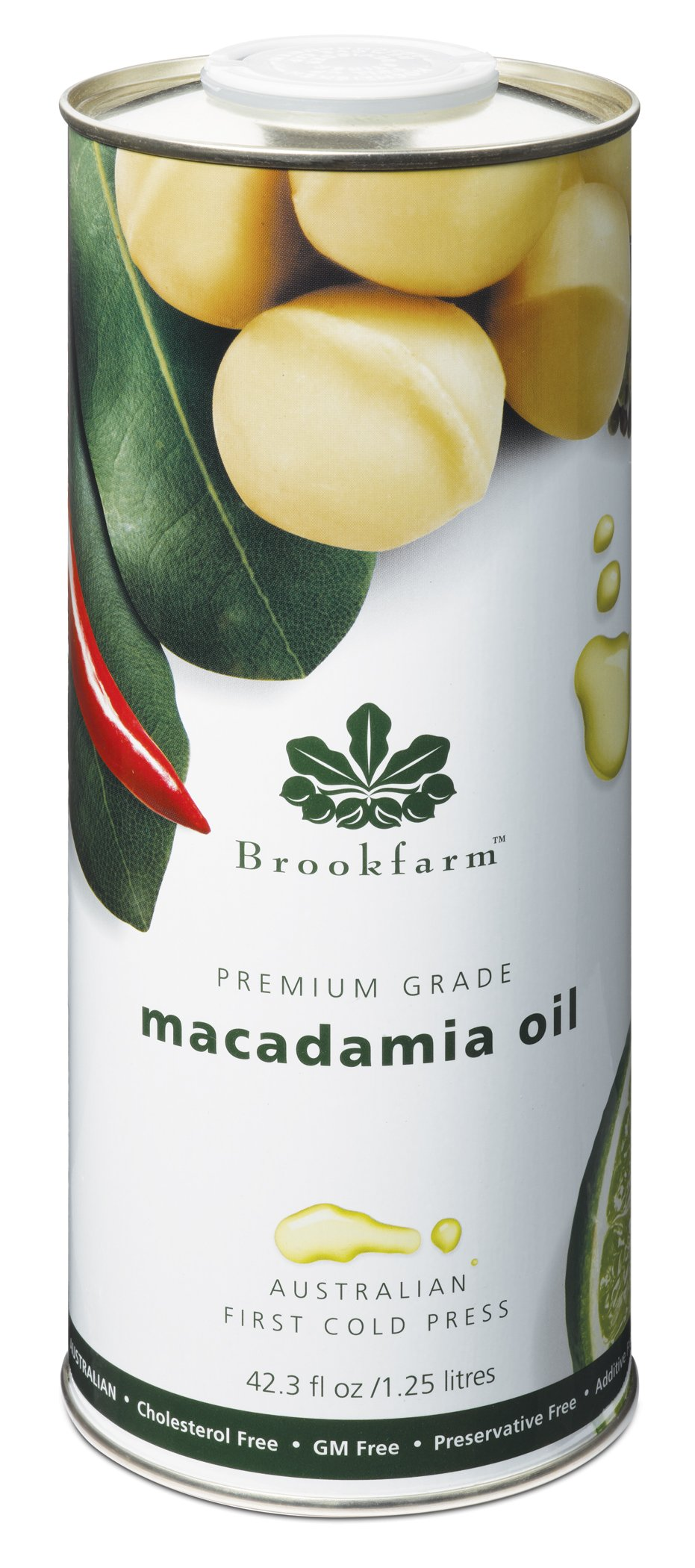 Brookfarm Premium-Grade Natural Macadamia Oil, 42.3 fl oz (1.25l)