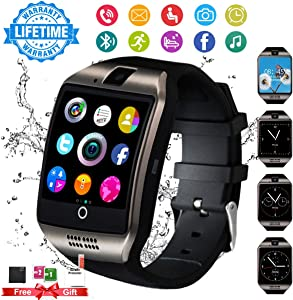 Smart Watch for Android Phones, Smartwatch for Men Women, Smart Watches with Camera Bluetooth Watch with Sim Card Slot Pedometer Cell Phone Watch Compatible Android Samsung iOS Adult Youth Ladies Man