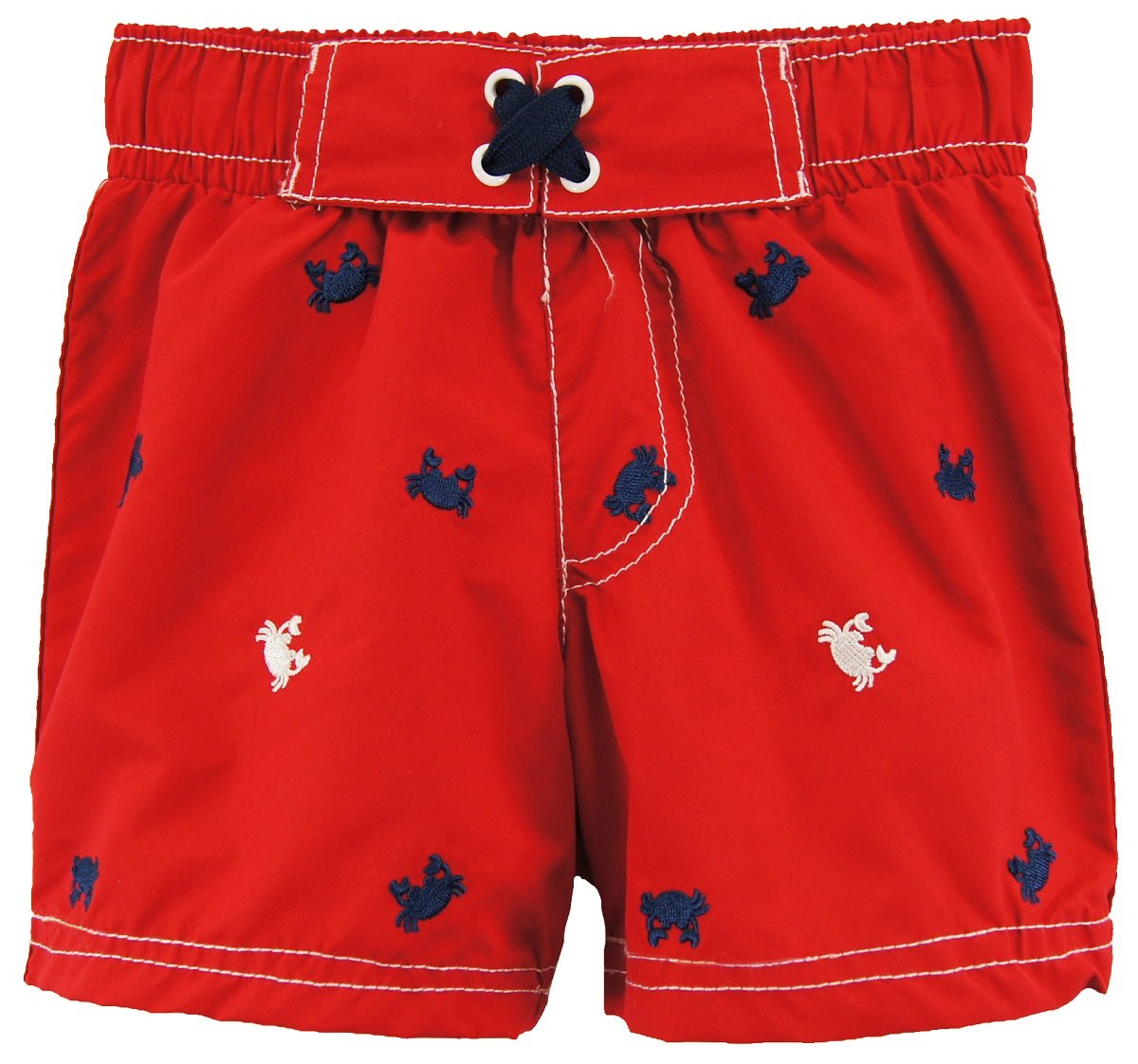 Wippette Baby Boys' Crabs Swim Trunk, Red, 12M by Wippette (Image #1)
