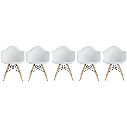 Amazon.com: 2 x Hogar – Sillón eames estilo – Patas de ...
