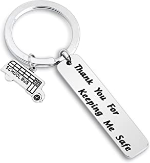 SEIRAA Drive Safe Keychain Bus Driver Keychain Thank You for Keeping Me Safe Bus Driver Appreciation Gift for Driver