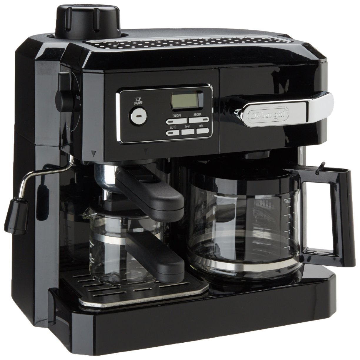 Drip Coffee Maker With Timer : DeLonghi BCO320T Combination Espresso and Drip Coffee- Black eBay