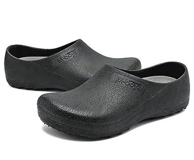 Work Clog Unisex Slip Resistant Kitchen Shoes Black For Nurse Chef 42