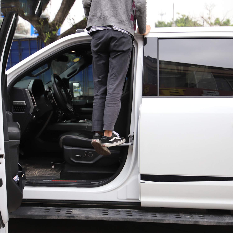 per auto con ganci LFOTPP Ateca Arona Tarraco SUV colore: Nero Pedale pieghevole in lega di alluminio